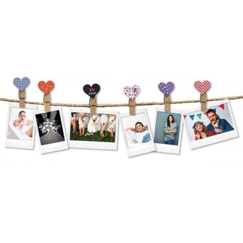 """Clip photo FUJI modèle """"Cœurs"""" (Pack de 10)"""
