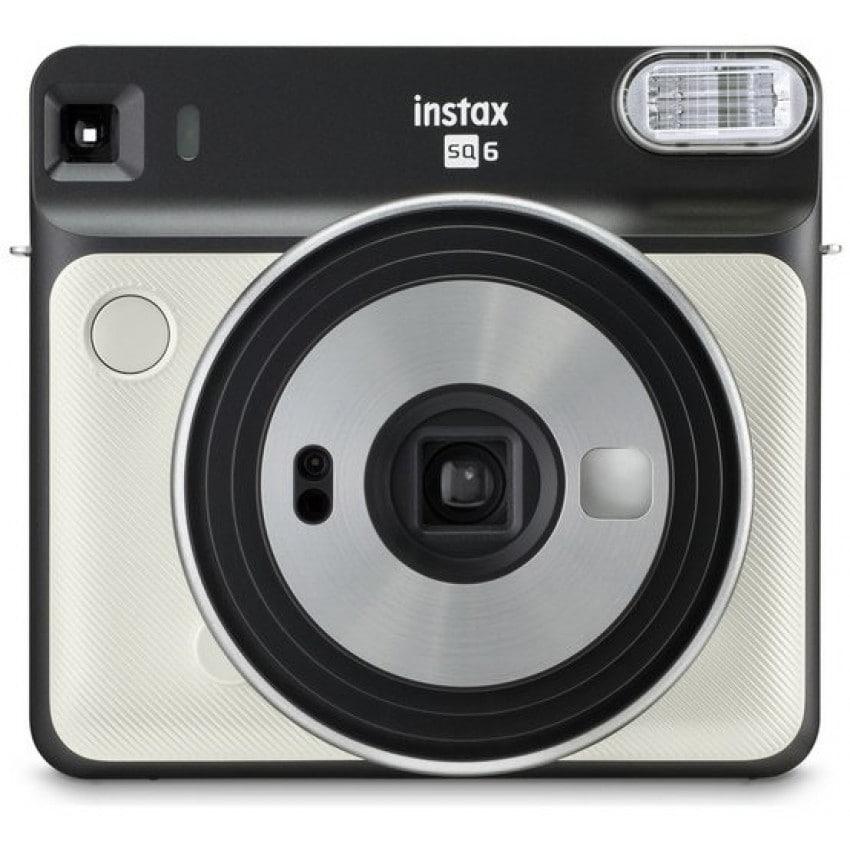 Appareil photo instantané FUJI Instax Square SQ6 Pearl White - Format photo 62 x 62mm - Livré avec 2 piles lithium CR2/DL CR2