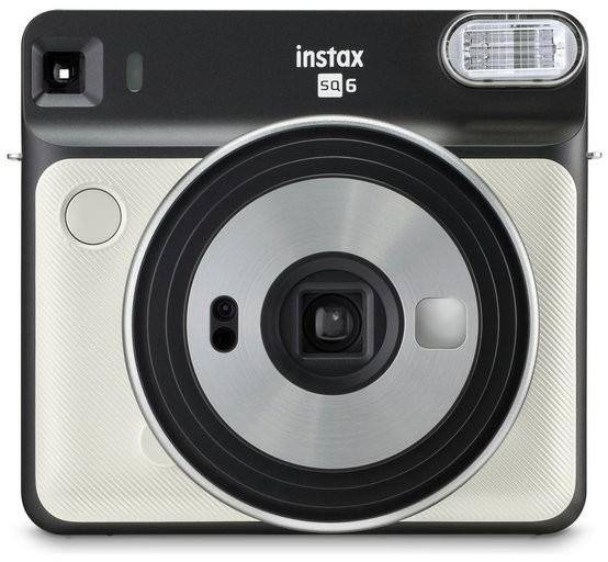 FUJI - Appareil photo instantané Instax Square SQ6 Pearl White - Format photo 62 x 62mm - Livré avec 2 piles lithium CR2/DL CR2