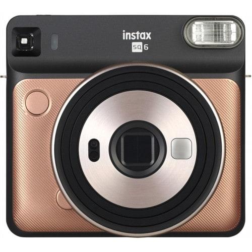 Appareil photo instantané FUJI Instax Square SQ6 Blush Gold - Format photo 62 x 62mm - Livré avec 2 piles lithium CR2/DL CR2