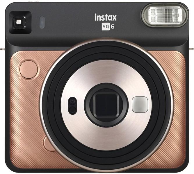 FUJI - Appareil photo instantané Instax Square SQ6 Blush Gold - Format photo 62 x 62mm - Livré avec 2 piles lithium CR2/DL