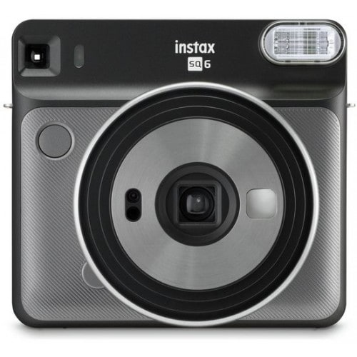 Appareil photo instantané FUJI Instax Square SQ6 Graphite Gray - Format photo 62 x 62mm Livré avec 2 piles lithium CR2/DL CR2