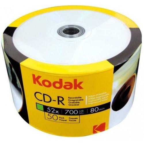 CD-R KODAK 700Mo / 80min - Vitesse 52x - Tour de 50