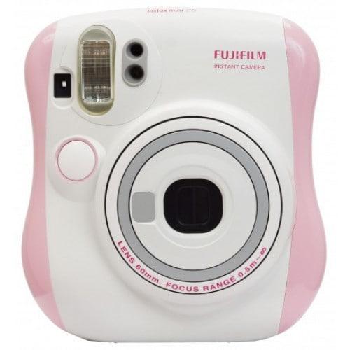 Appareil photo instantané FUJI Instax Mini 25 - Format photo 62x46mm - Livré avec 2 piles CR2 et dragonne - Dim. (L)112x(H)121x(