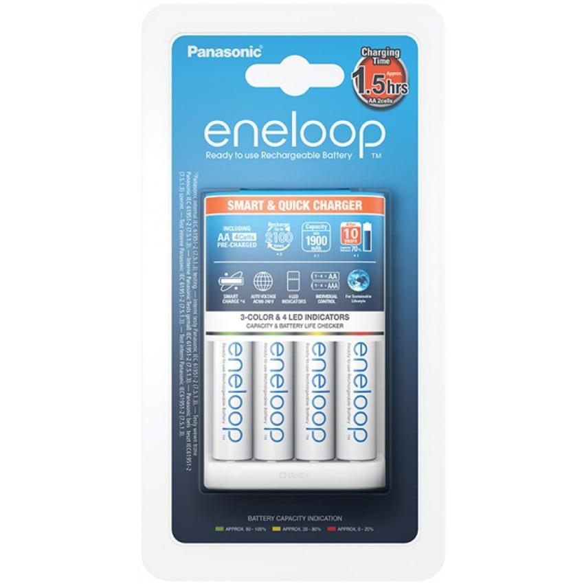 ENELOOP Smart & Quick + 4 accus LR6 1900mAh (Recharge 4 piles LR6 ou LR03)