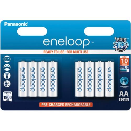 PANASONIC - Piles rechargeables ENELOOP LR6 (AA) NiMH 1900mAh Blister de 8 piles