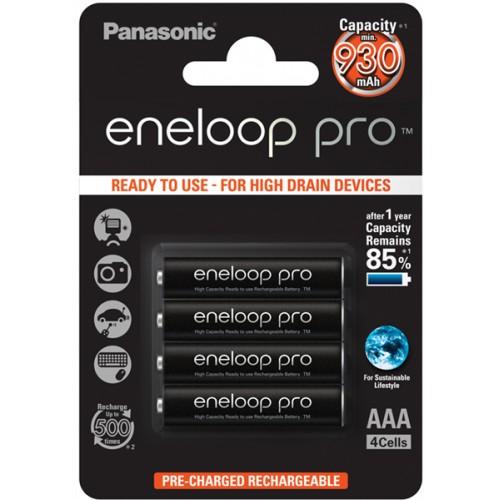 PANASONIC - Piles rechargeables ENELOOP PRO LR03 (AAA) NiMH 930mAh Blister de 4 piles