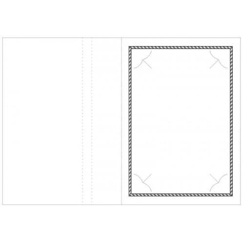 Chemise photo MB TECH Chemise pour photo 13x18 cm Collection OPUS : Liseré noir 2 volets Lot de 100