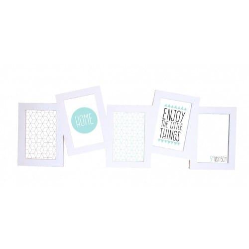 BRIO - Cadre photo multivues Miami - Multivues PVC blanc pour 5 photos 10x15