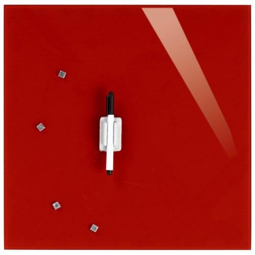 Pêle-mêle BRIO pense-bête magnétique et effaçable - Rouge - 40x40cm