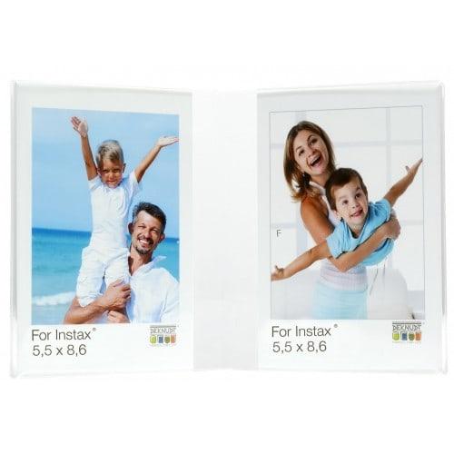 DEKNUDT - Cadre photo multivues S58RL2 H2V Mini Double Plexi transparent Pour Instax Mini