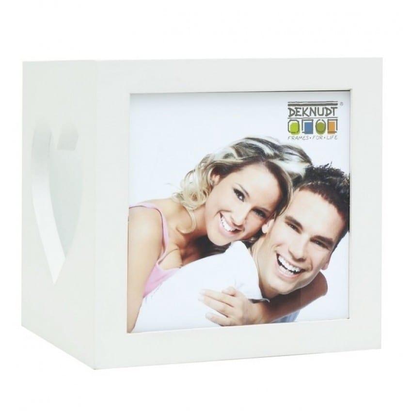 Porte-bougie DEKNUDT S68HF pour 2 photos 7x8cm - Bois - Livré avec 1 bougie LED