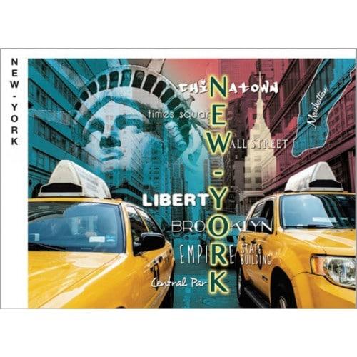 Chemise photo scolaire BESOIN & BARJON Collection New York - Diptyque pour portrait 18x24 + pochette Lot de 50