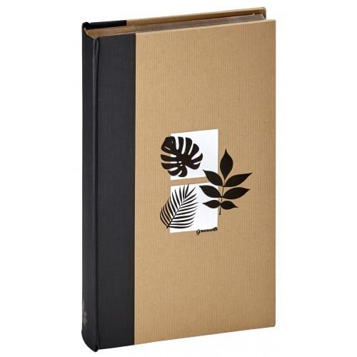 PANODIA - Album photo pochettes avec mémo GREENEARTH - 100 pages kraft - 300 photos - Couverture Noire 22x37cm