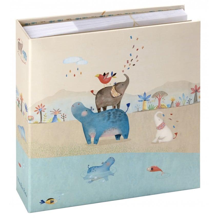 Album photo PANODIA Série MOULIN ROTY 200 photos 11,5x15cm - Pochettes Pages illustrées Boîte cadeau (Les Papoum)