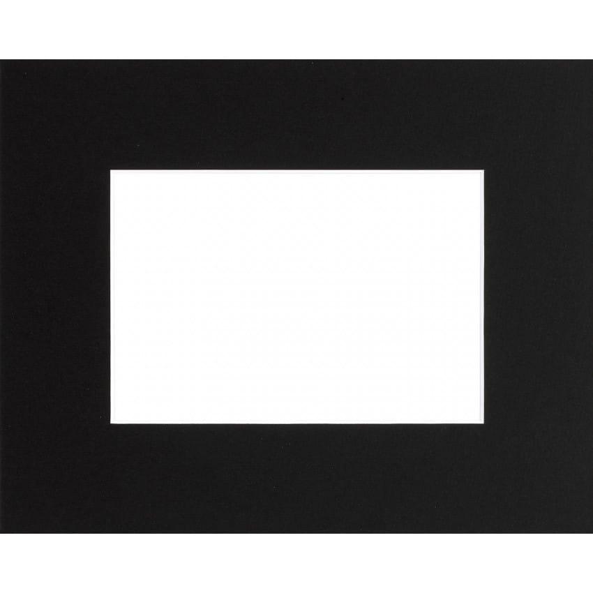 Passe partout BRIO - Format extérieur 24x30cm - Fenêtre 15x20cm - Noir