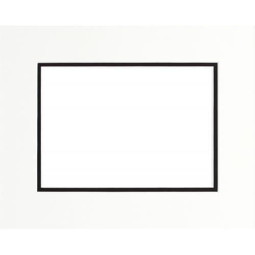 BRIO - Passe partout - Format extérieur 40x50cm - Fenêtre 30x40cm - Noir - Double