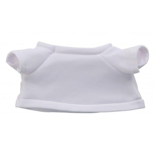 T-shirt TECHNOTAPE blanc pour peluche hauteur 21cm - 100% polyester