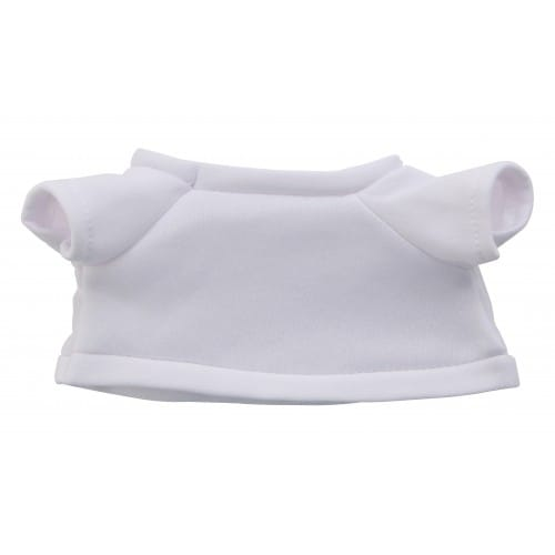 T-shirt TECHNOTAPE blanc pour peluche hauteur 50cm - 100% polyester