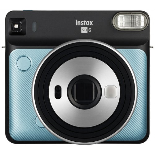 Instax Square SQ6 Aqua Blue - Format photo 62 x 62mm - Livré avec 2 piles lithium CR2/DL CR2