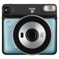 FUJI - Appareil photo instantané Instax Square SQ6 Aqua Blue - Format photo 62 x 62mm - Livré avec 2 piles lithium CR2/DL CR2