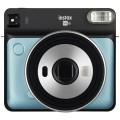 FUJI - Appareil photo instantané Instax Square SQ6 Aqua Blue - Format photo 62 x 62mm - Livré avec 2 piles lithium CR2/DL CR2