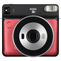FUJI - Appareil photo instantané Instax Square SQ6 Ruby Red - Format photo 62 x 62mm - Livré avec 2 piles lithium CR2/DL CR2