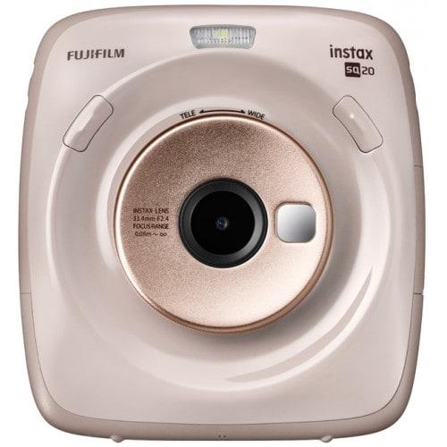 Fuji Instax Square SQ20 beige - Format photo 62x62mm - Livré avec 1 batterie - Dim. (L)119x(H)127x(P)50mm - 390g