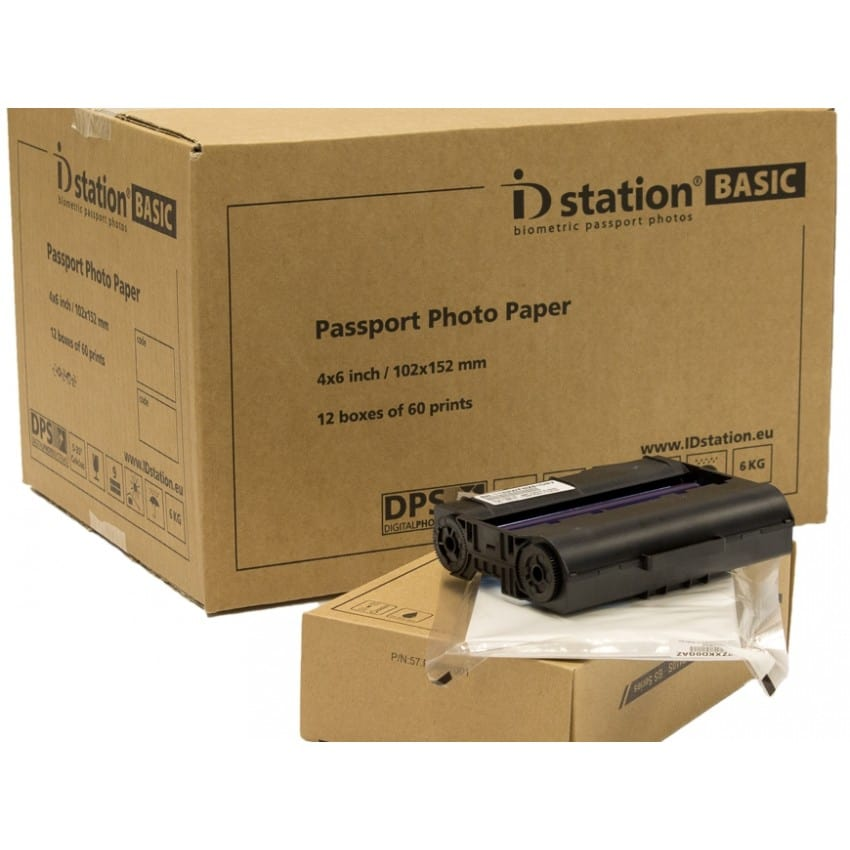 Papier thermique identité ID STATION pour kiosk ID STATION BASIC - Carton de 720 tirages