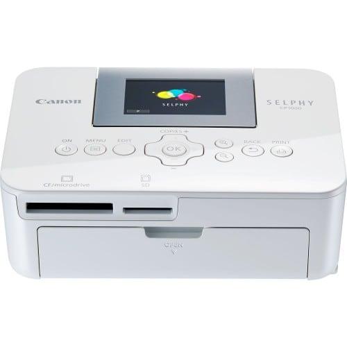 Imprimante thermique CANON SELPHY CP1000 blanche Tirages 10x15cm en 47s Ecran LCD inclinable de 6.8cm 178x135x60,5mm - 840g