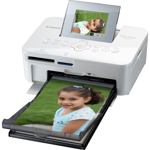 CANON - Imprimante thermique Selphy CP1000 blanche - Tirages 10x15cm - Ecran LCD inclinable