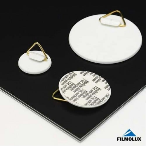 Attache adhésive FILMOLUX ronde à crochet 60mm
