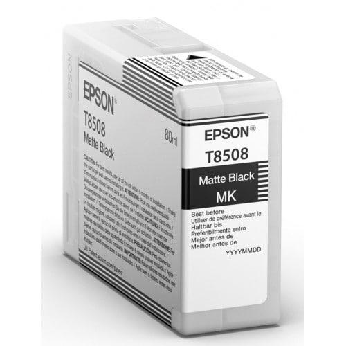 Cartouche d'encre traceur EPSON SC-P800 - Noir Mat - 80ml - T8508