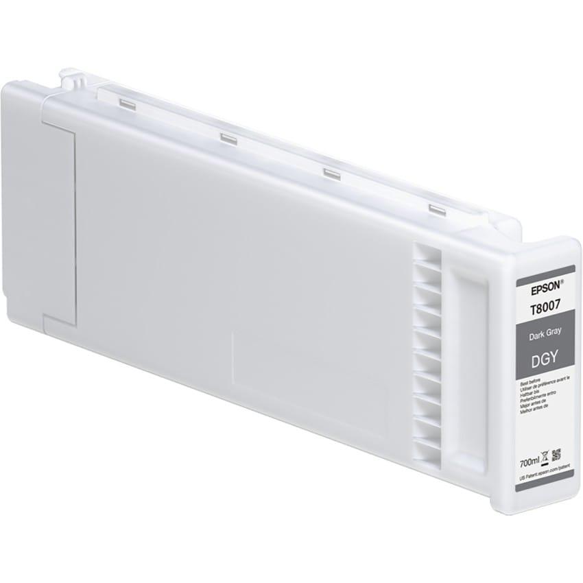 Cartouche d'encre traceur EPSON T8007 Pour imprimante SC-P10000 & SC-P20000 Gris foncé - 700ml