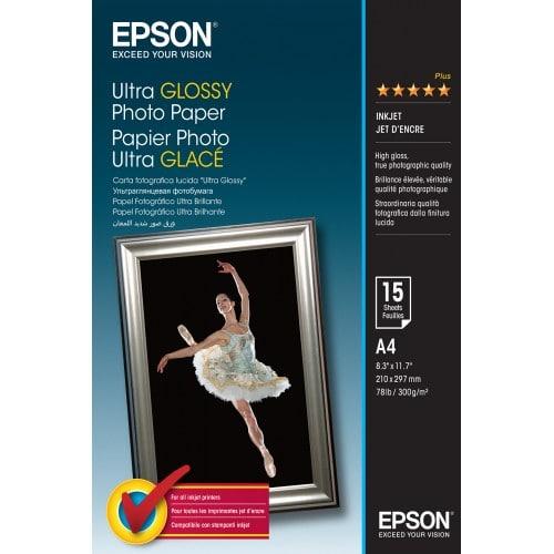 Papier jet d'encre EPSON EPSON PHOTO papier ultra-glacé 300g - A4 - 15 feuilles