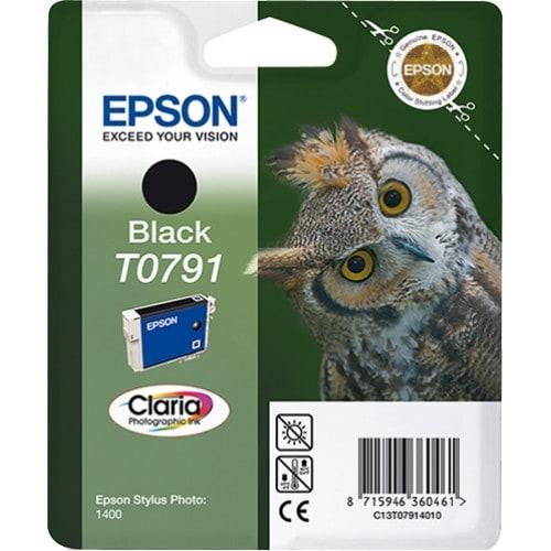 Cartouche d'encre EPSON T0791 Chouette - Noir