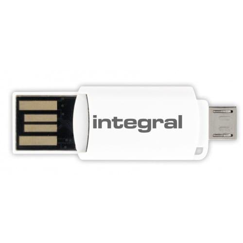 INTEGRAL - Adaptateur carte mémoire Adaptateur OTG + Micro SDHC/XC (micro USB/USB)