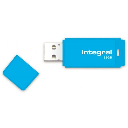 Clé USB 2.0 INTEGRAL Flash Drive Néon 32 GB (Bleu)