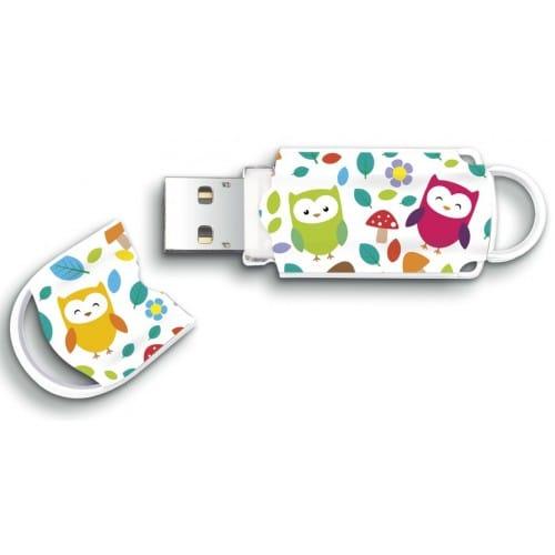 """Clé USB 2.0 INTEGRAL Xpression """"Owls"""" (Hiboux) 16 GB"""