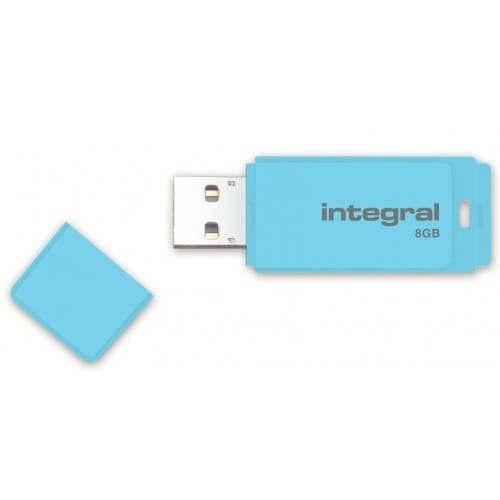 Clé USB 2.0 INTEGRAL Flash Drive Pastel 8 GB (Bleu)