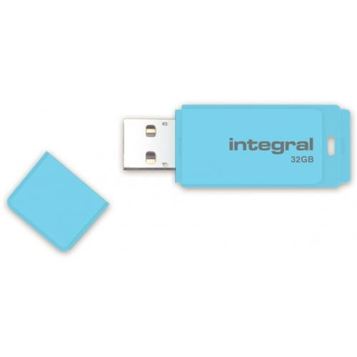 Clé USB 2.0 INTEGRAL Flash Drive Pastel 32 GB (Bleu)