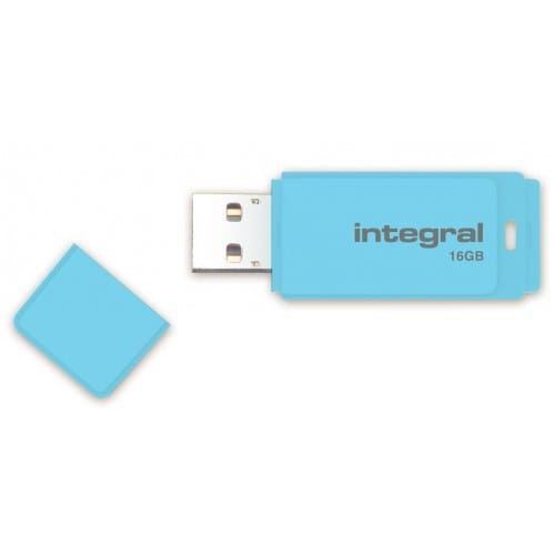 Clé USB 2.0 INTEGRAL Flash Drive Pastel 16 GB (Bleu)