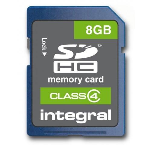 Carte mémoire SD INTEGRAL SDHC Class 4 - 8 Go avec boite de protection