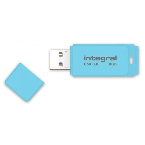 Clé USB 3.0 INTEGRAL Flash Drive Pastel 8 GB (Bleu)