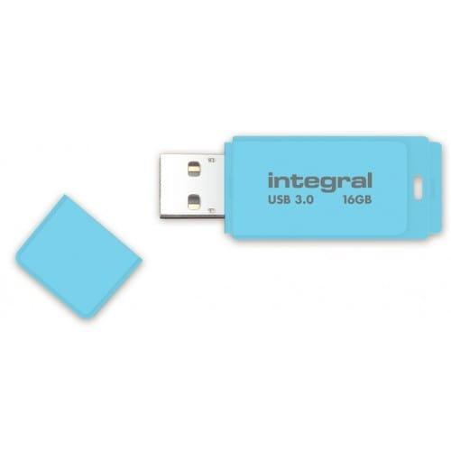 INTEGRAL - Clé USB 3.0 Flash Drive Pastel 16 GB (Bleu)