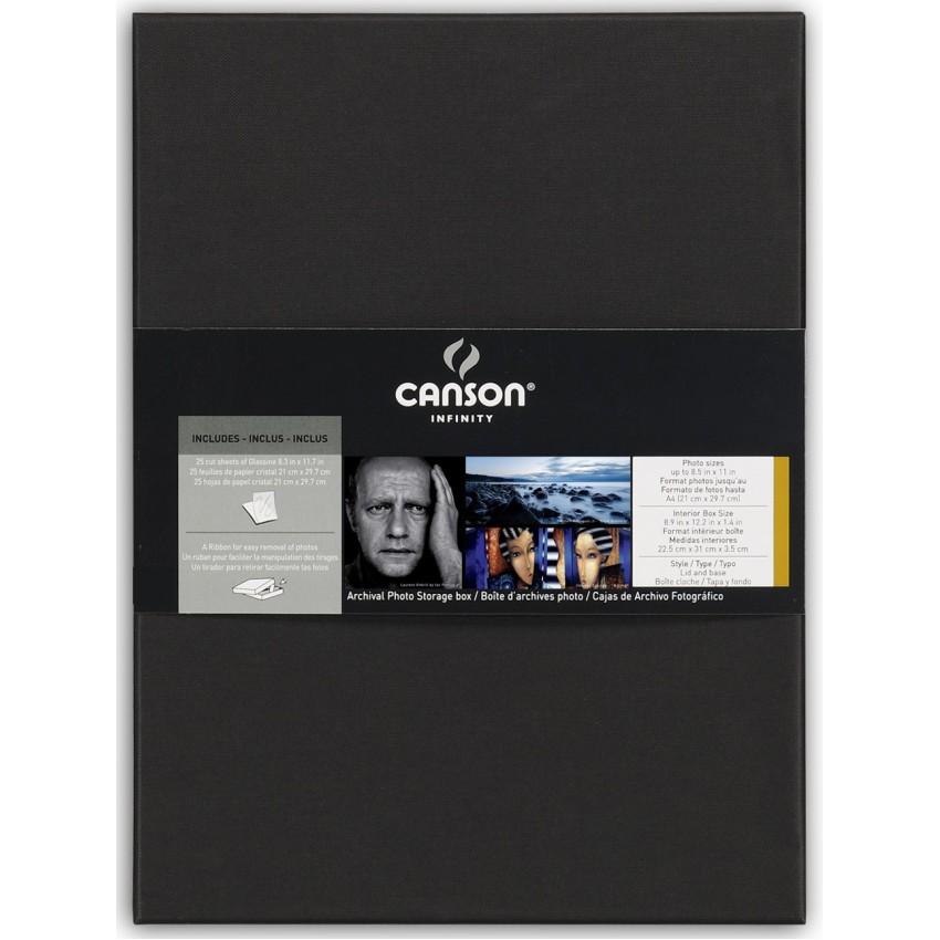 Boites d'archives CANSON Portfolio pour photos A4 - dim. intérieurs : 22,5x31x3,5cm