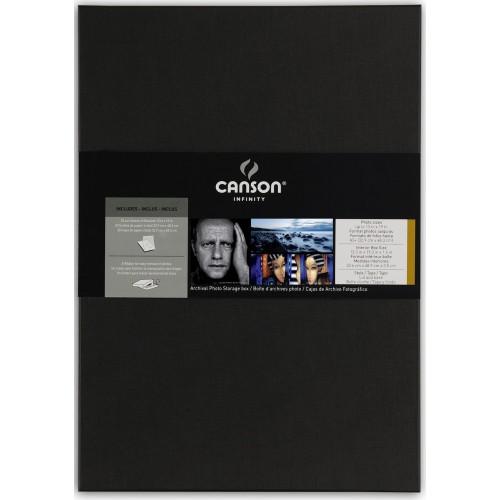 CANSON - Boites d'archives Portfolio pour photos A3+ (32,9x48,3cm) - dim. intérieurs : 33,7x48,9x3,5cm