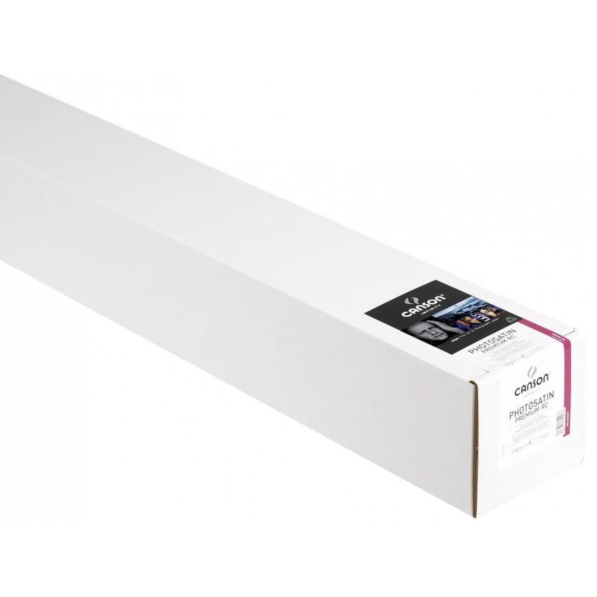 """Papier jet d'encre CANSON Infinity Photosatin Premium RC extra blanc 270g - 44"""" (111,8cm) - 30m"""