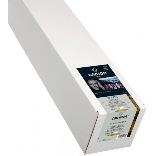 """Papier jet d'encre CANSON Infinity Baryta Prestige brillant 340g - 44"""" (111,8cm) - 15,24m"""
