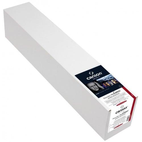 """Toile canvas jet d'encre CANSON Infinity PhotoArt ProCanvas Water Résistant Polycoton lustré 395g - 17"""" (43,2cm) - 12,2m"""